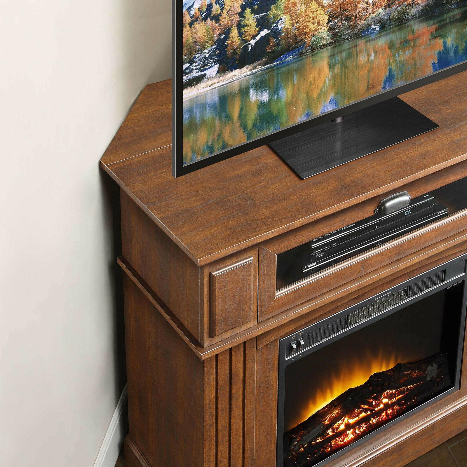 TV Media Electric Fireplace up Center