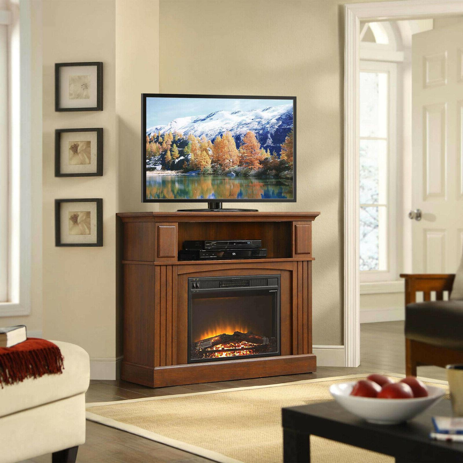 "TV Corner Electric Fireplace for up 45"" Entertainment"