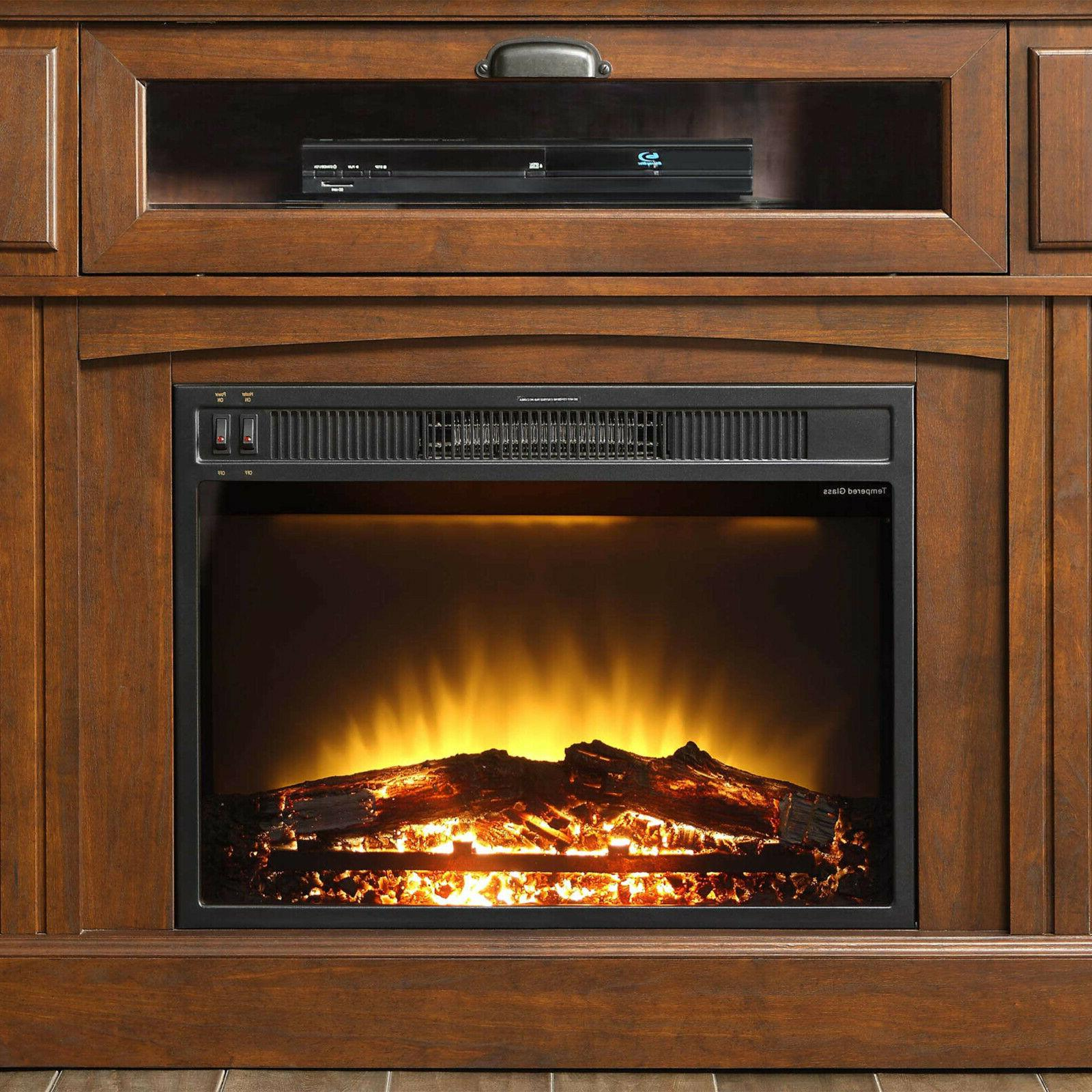 TV Stand Electric Fireplace up to Entertainment Center