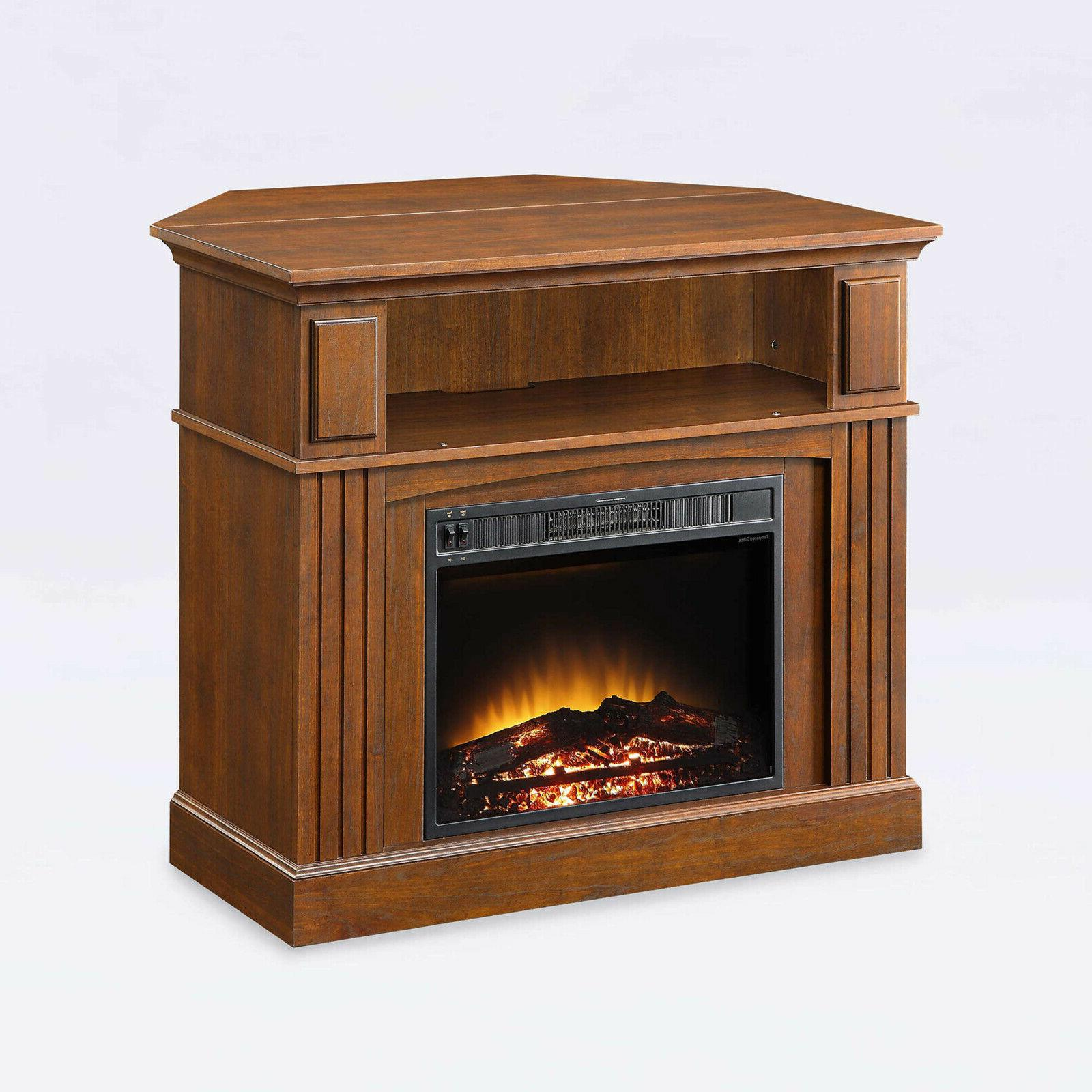 tv stand corner media electric fireplace