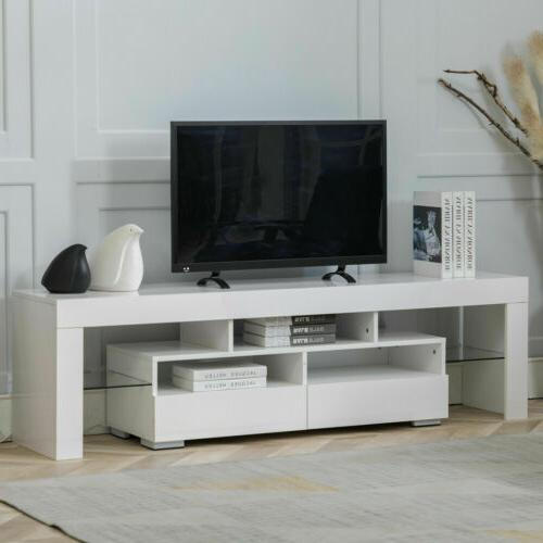 TV Console High Gloss Unit w/ RGB Lights