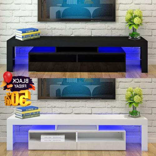 tv stand entertainment center console high gloss