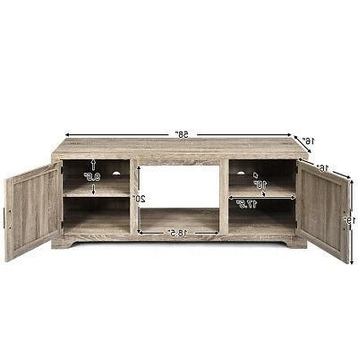 TV Stand Entertainment Center Console Storage w/2 Doors TV