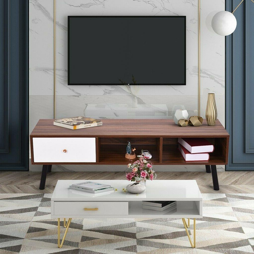 TV Stand Console Storage for Living