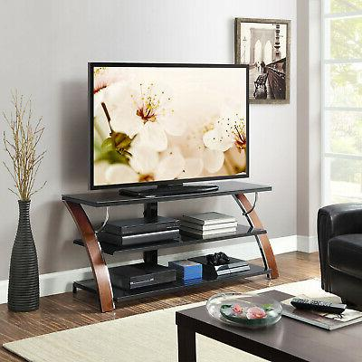 TV Stand Console Media Storage Swivel Wall Mount