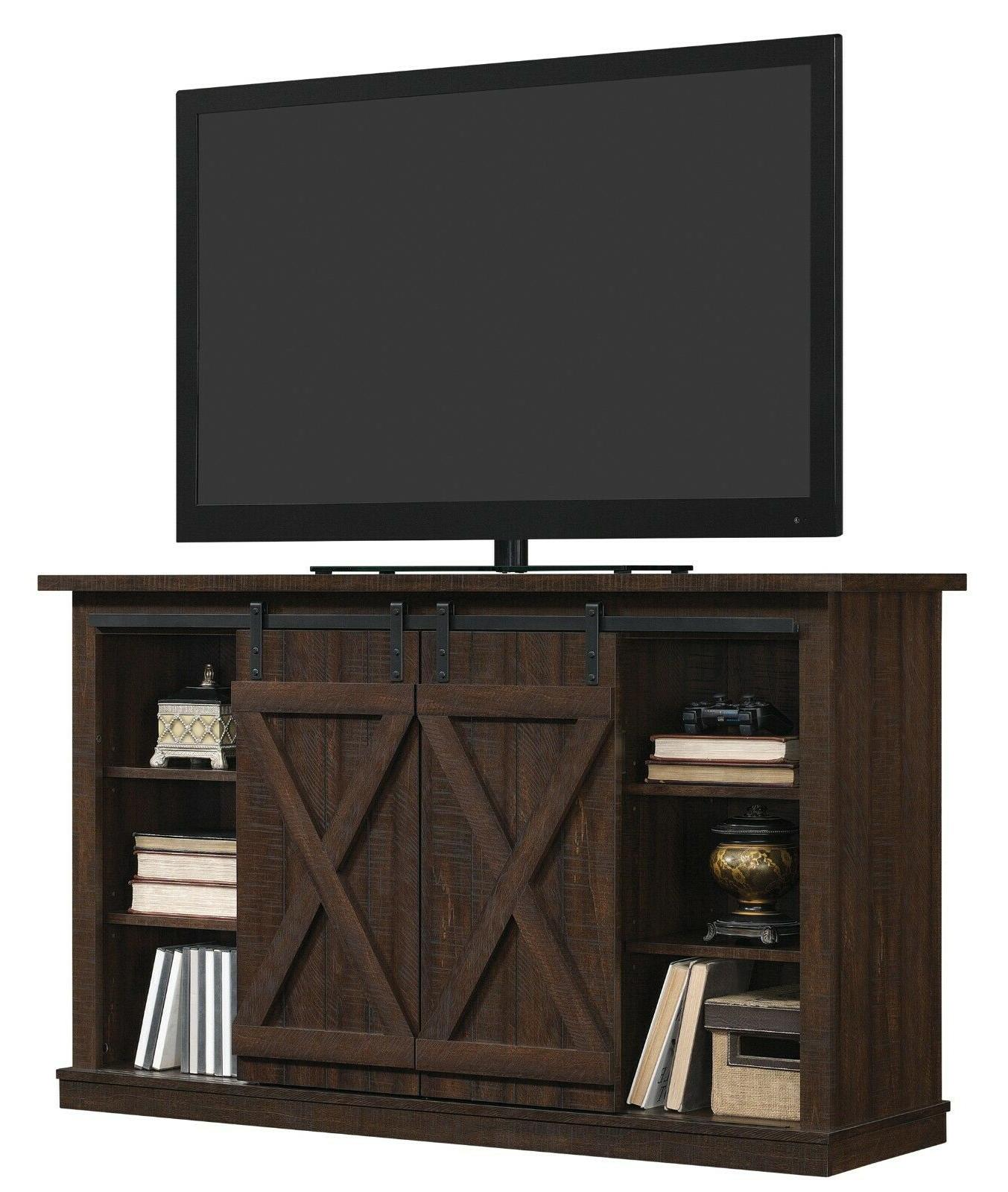 TV Entertainment Console Wood Barn Rustic