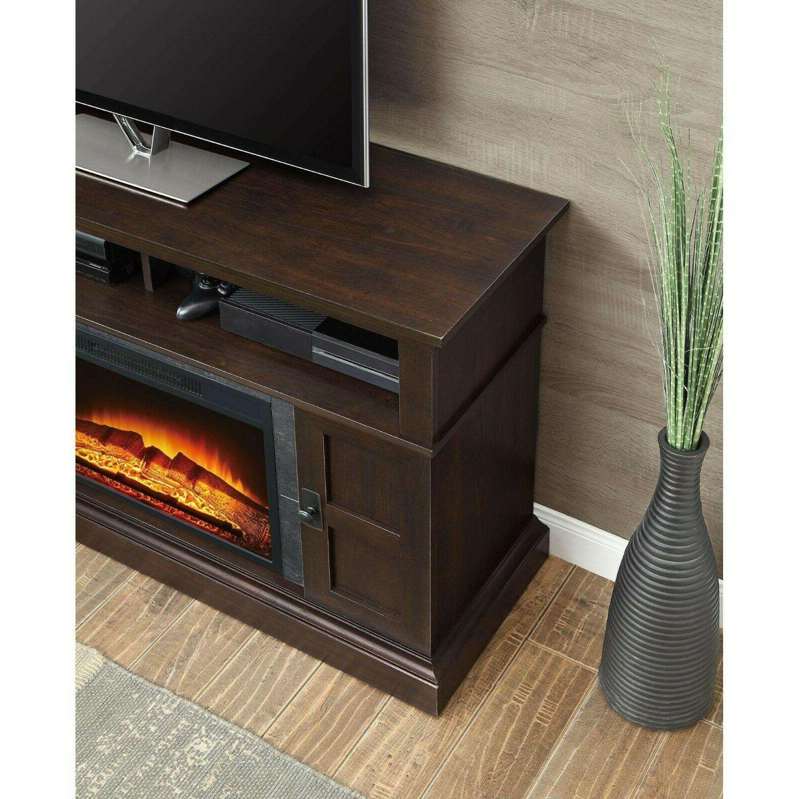 TV Stand Electric Control Cherry