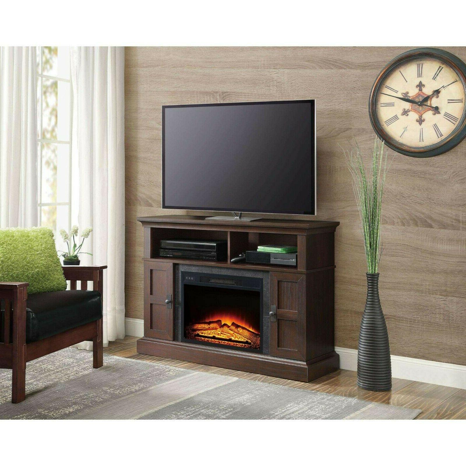 TV Electric Fireplace Heater Control Cherry