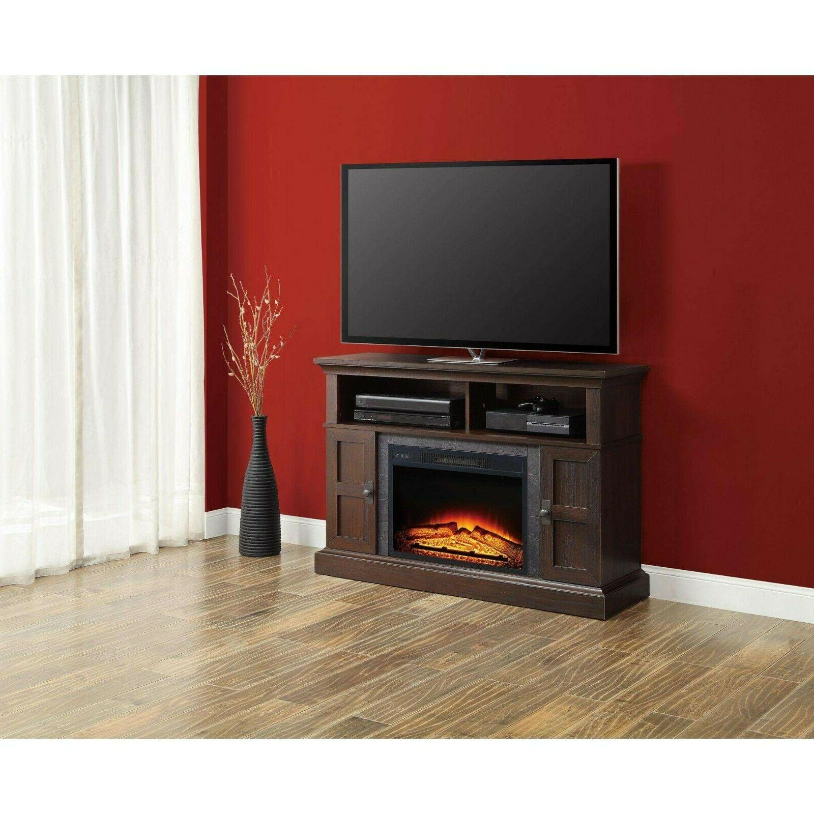 TV Stand Entertainment Electric Heater Remote Control