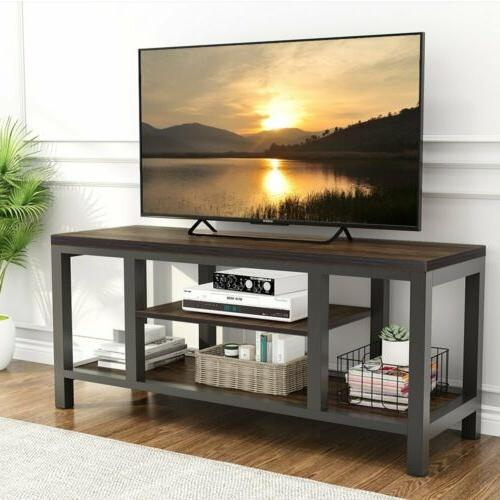 TV Center Rustic Media Stands with