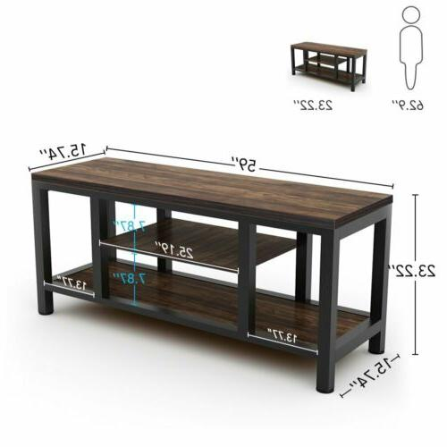 TV Rustic Console Table Stands Shelves