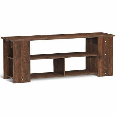 brown 2 tier tv stand entertainment media