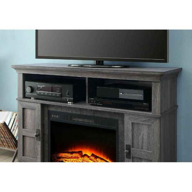 TV Stand Center Electric Fireplace Heater Remote