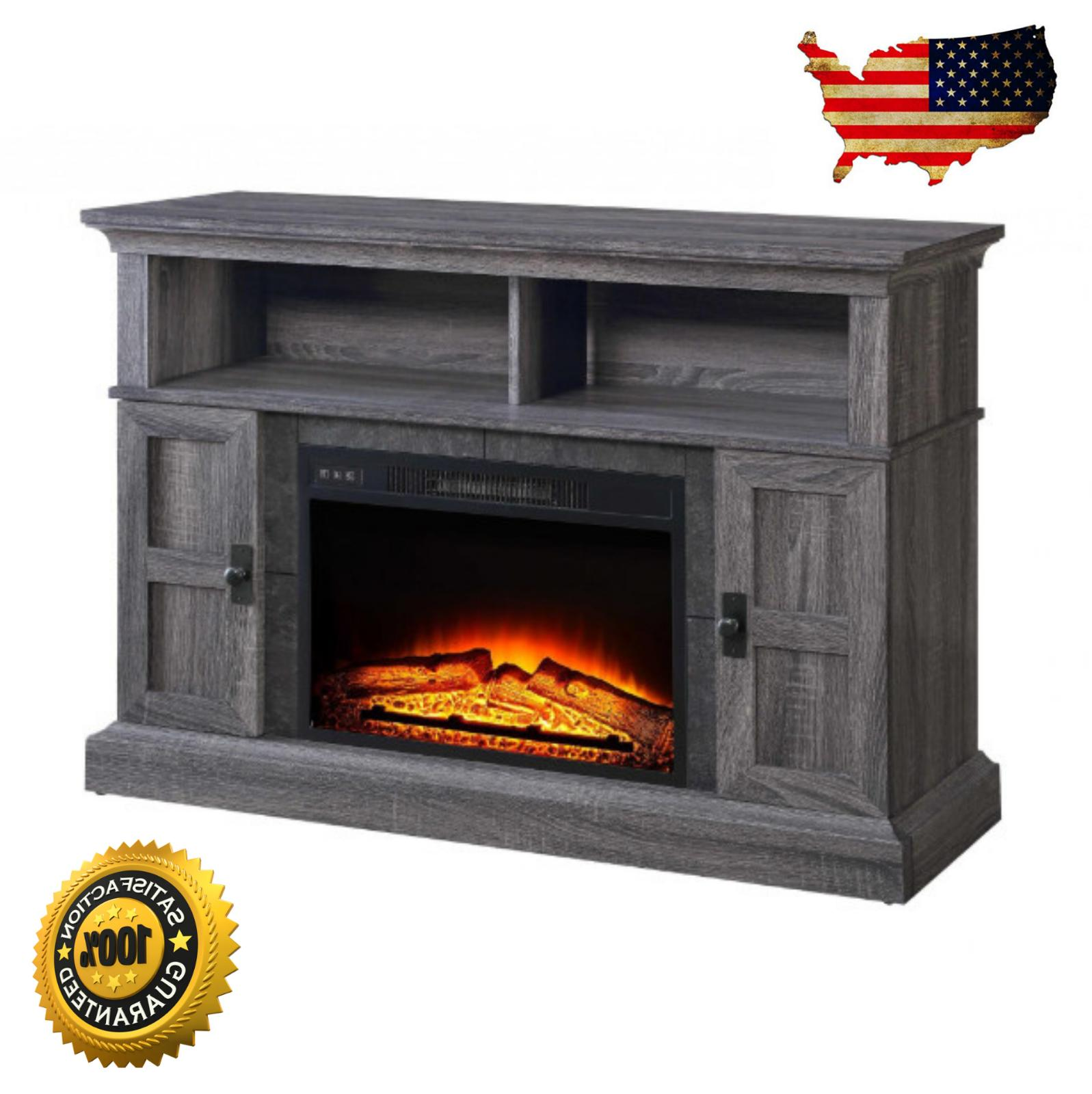 tv stand entertainment media center electric fireplace