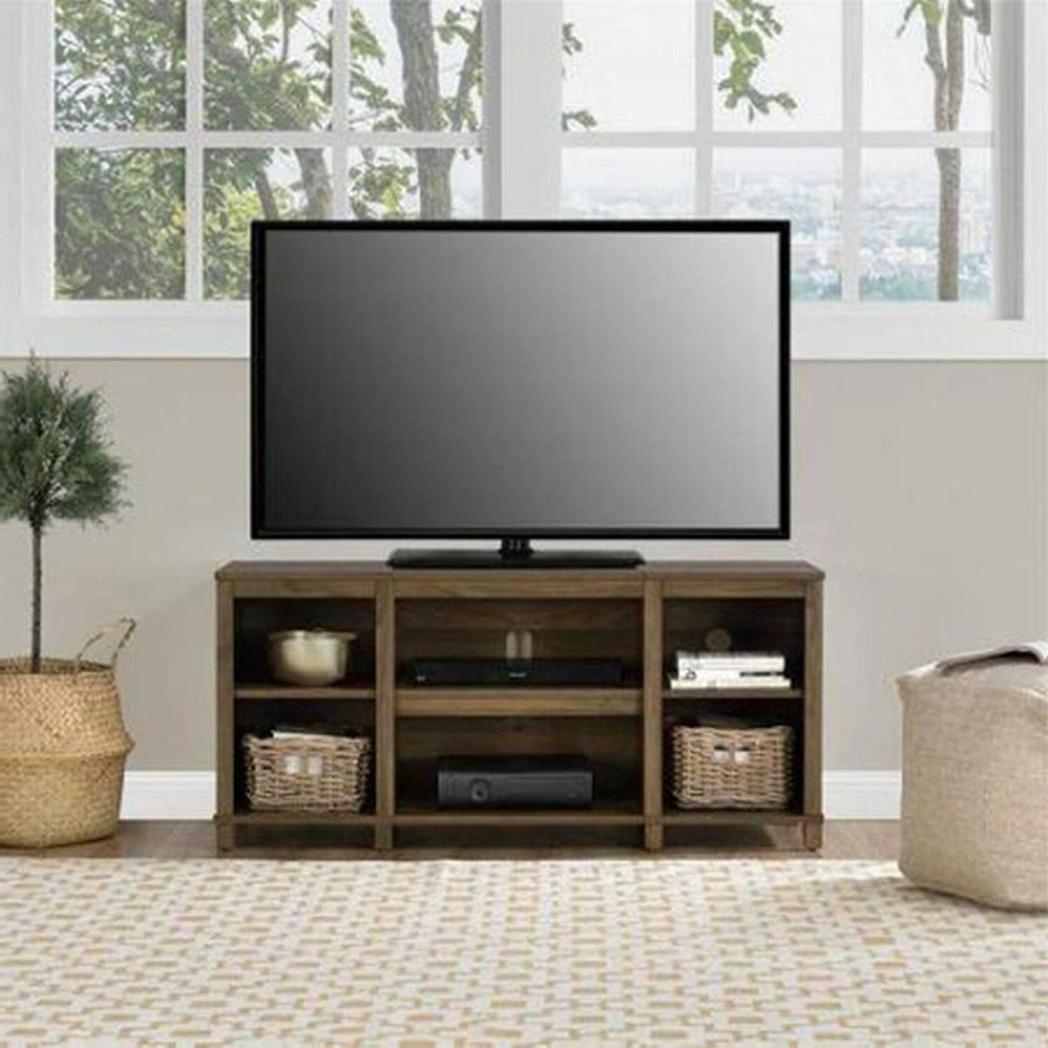 TV Stand Entertainment Center Screen Storage Console Wood