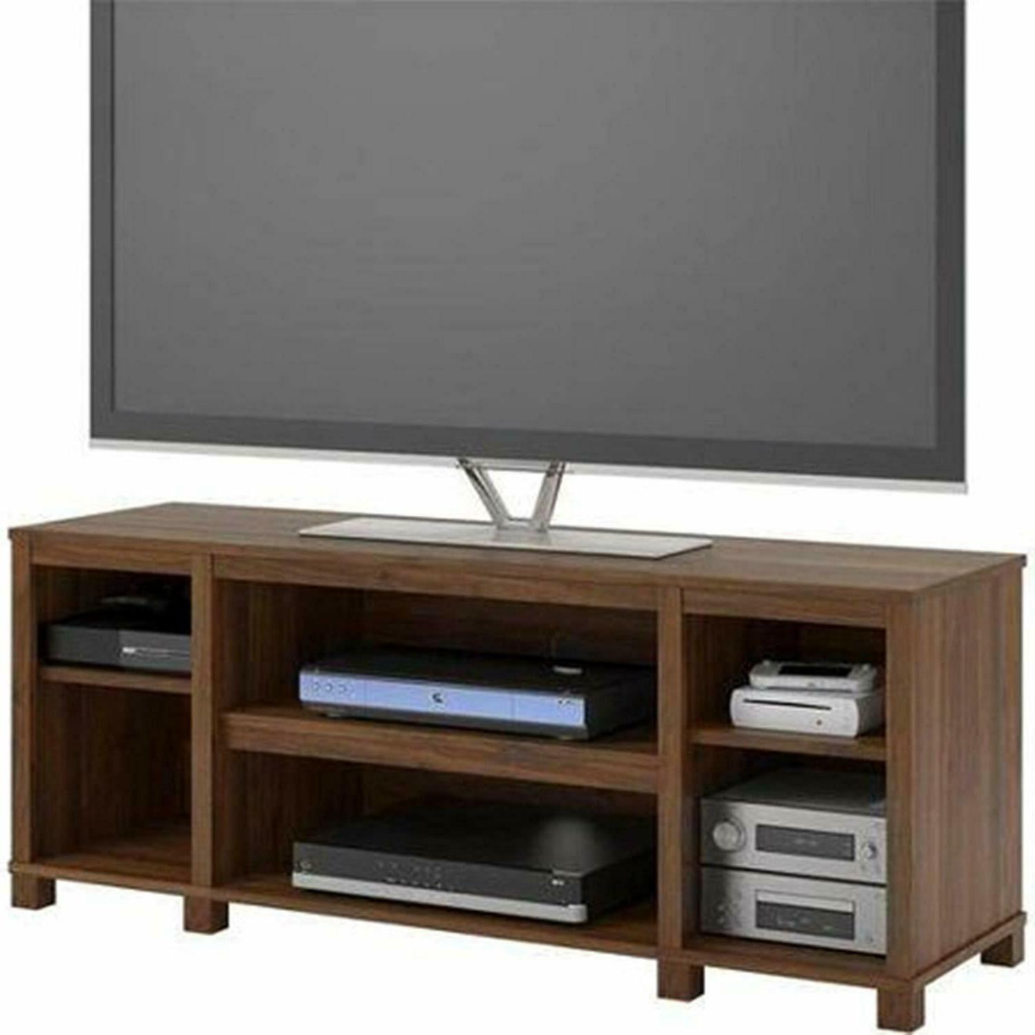 TV Center Flat Screen Console Wood