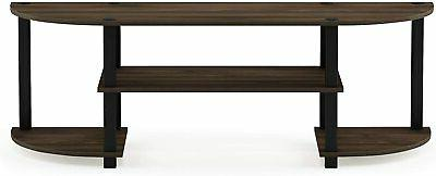 TV Inch Flat With Mount Entertainment Center Walnut