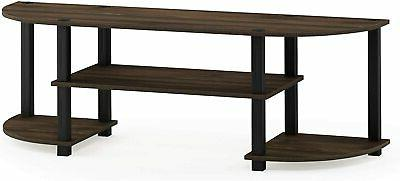 TV Stand For 55 Inch Screens Mount Center Walnut