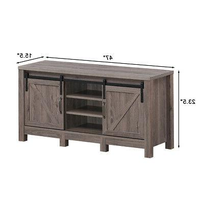 TV Stand Sliding Door Center for TV's with Storage