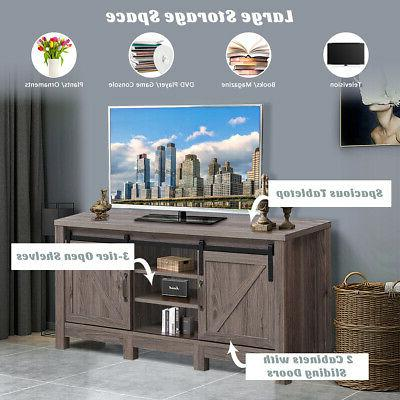 """TV Stand Sliding Door Entertainment TV's up to 55"""" with Storage"""