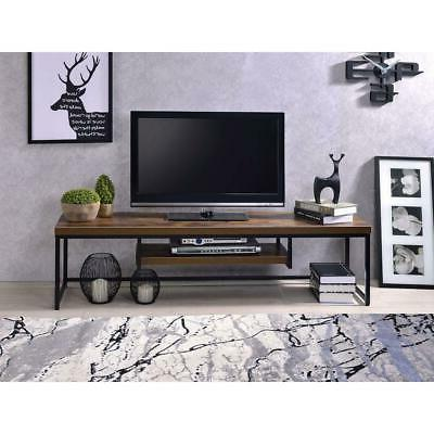 Rustic Stand Entertainment Center Farmhouse Console Two