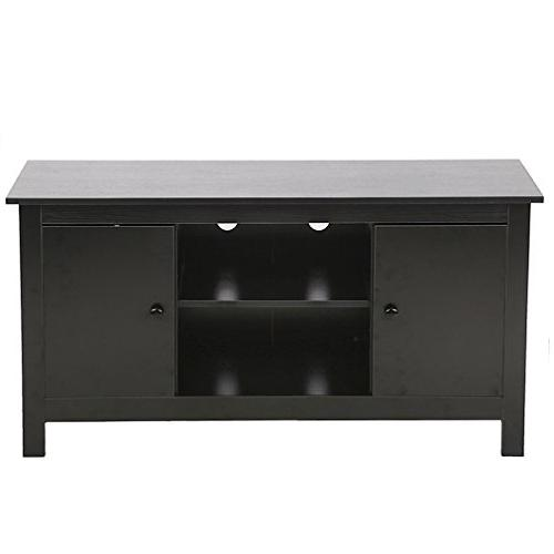 tv stand wood media storage