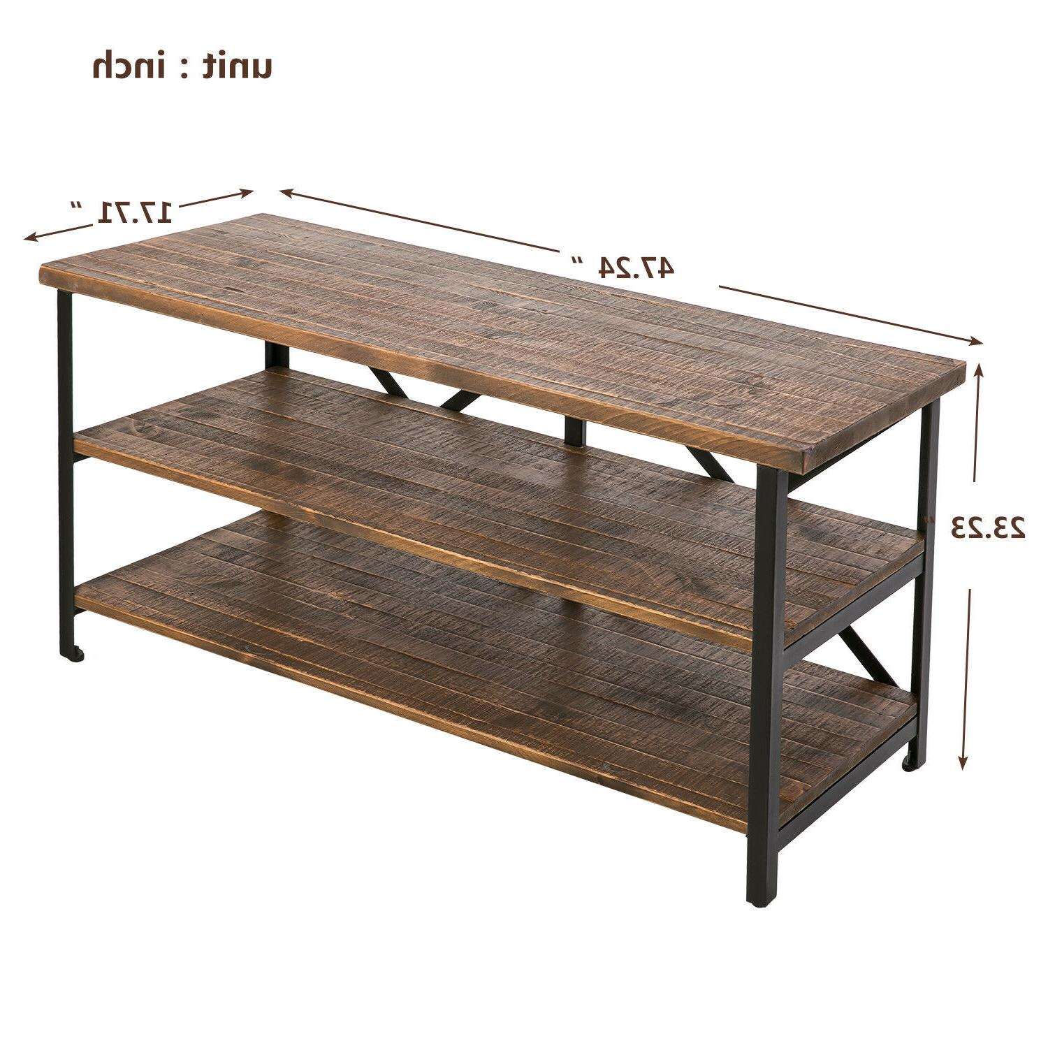 Vintage TV Stand Console Rustic Metal