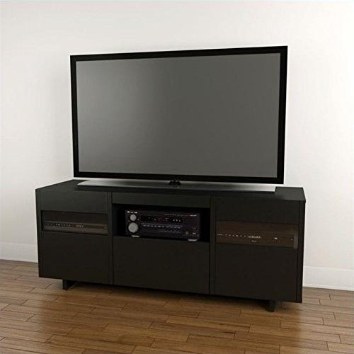 Nexera Vision 1 Tower Entertainment Center Black