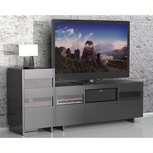 Nexera Tower Entertainment Center in Black