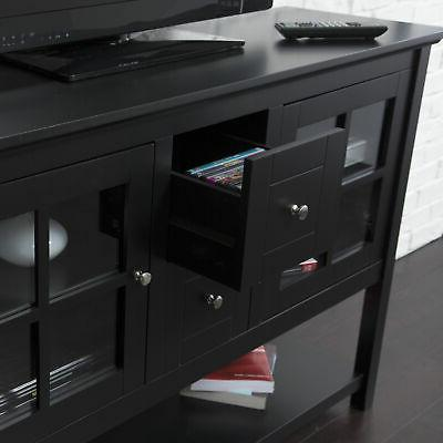 """Walker 52"""" Wood Console TV Stand for TV's up to 55"""" - Brown"""