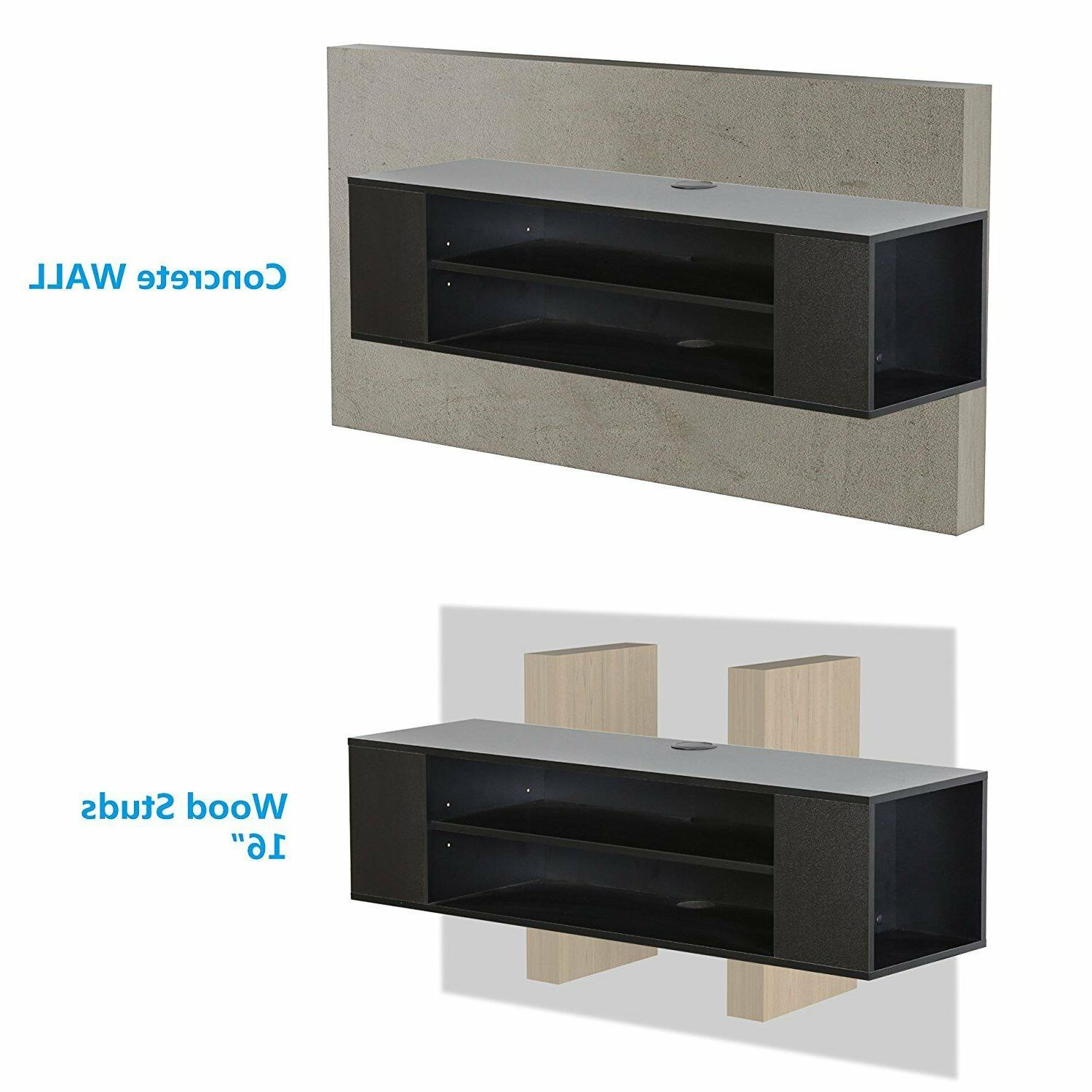 Collection TV Stand Drawers Floating Theater Entertainment Center