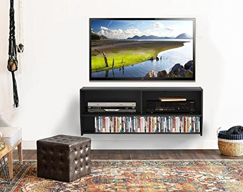 Fitueyes Wall Mounted Audio/Video Console wood grain xbox one/PS4/vizio/Sumsung/sony TV.DS210302WB