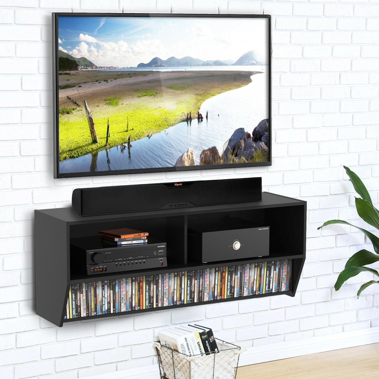 wall mounted audio console wood