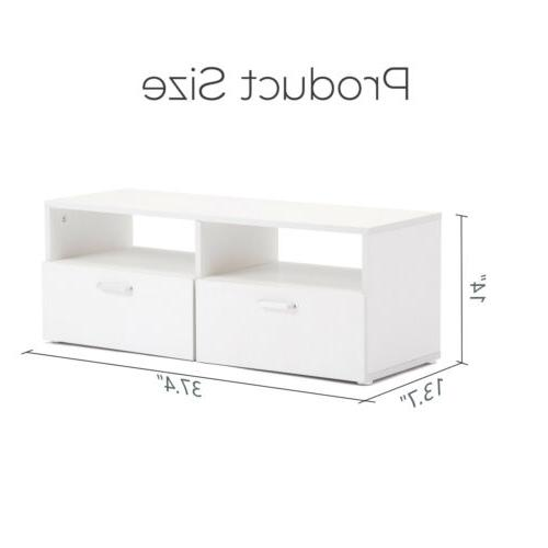 Wall Mounted TV Entertainment Console Media White