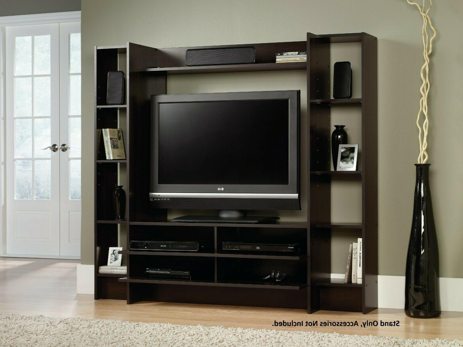 TV Entertainment Center Stand Wall Unit Cabinet Storage Disp