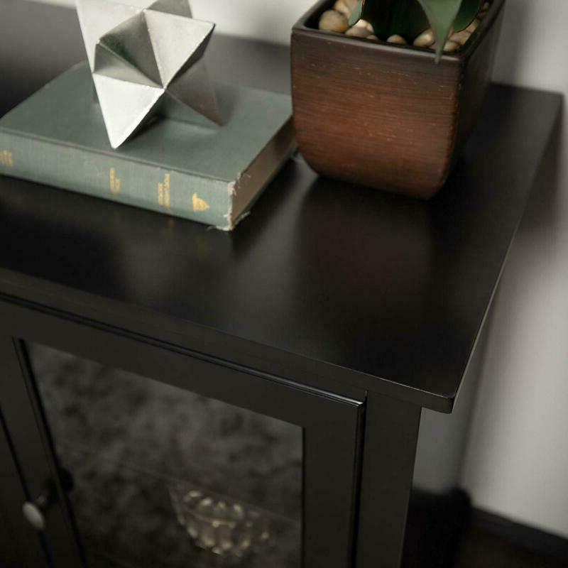 """We 70"""" Style Stand Console, Black"""
