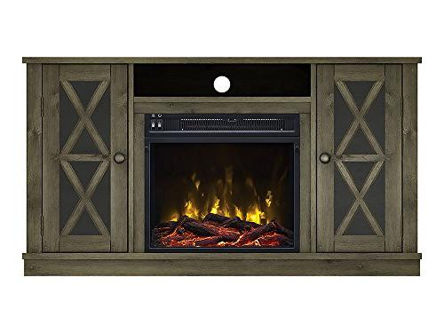 willis electric fireplace media console