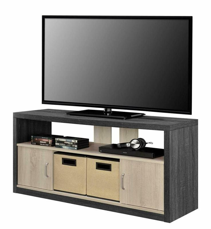 Ameriwood Stand for TVs to Fabric Bins,