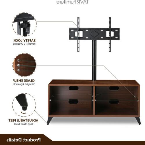 Wood Entertainment TV Stand for ,Walnut