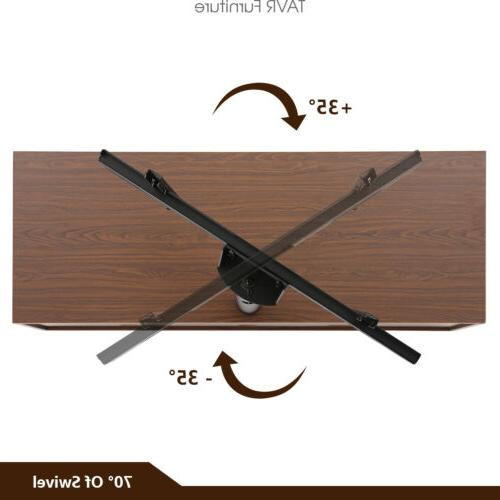 Wood Entertainment Stand Mount for 32-65 TVs ,Walnut