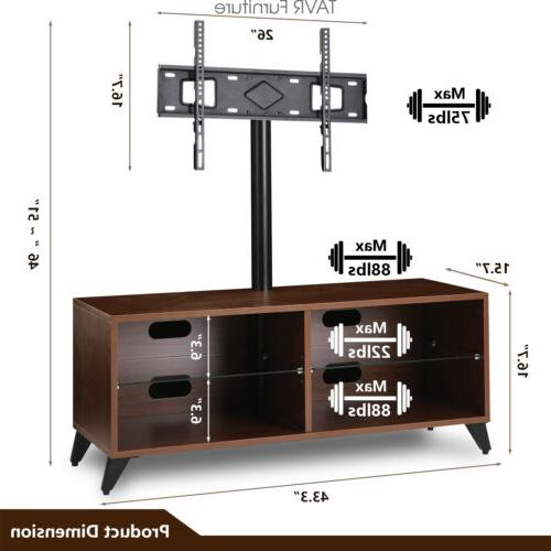 Wood Entertainment Center Stand with for 32-65 TVs ,Walnut