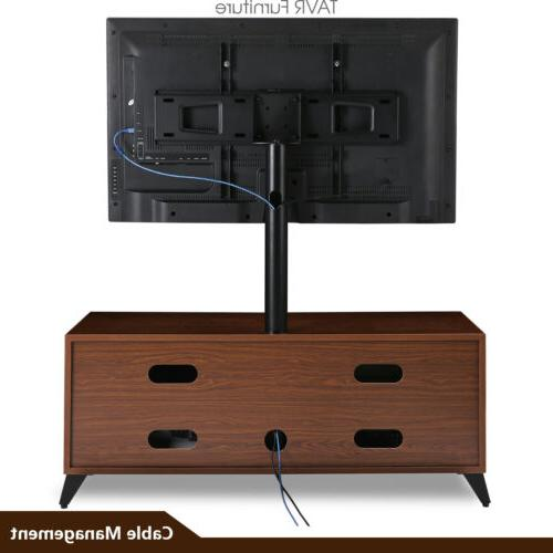 Wood Entertainment Center Stand with for 32-65 ,Walnut