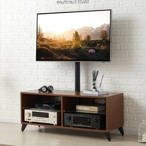 wood entertainment center tv stand with swivel