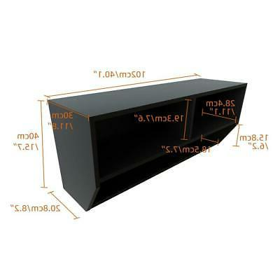 Floating Stand Mount Entertainment Media Black