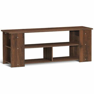"Wood Storage Cabinet Stand for TVs up to 50""-Coffee"