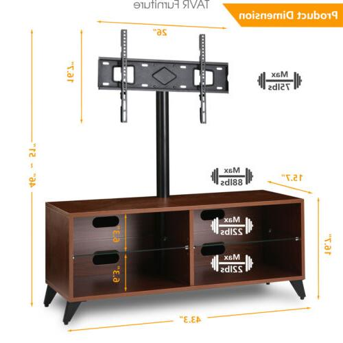 Wood Entertainment Stand for ,Walnut