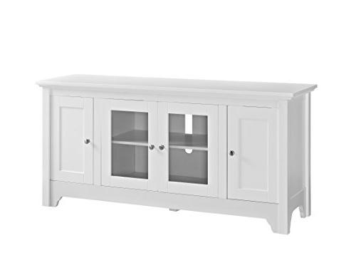 "WE 52"" Wood Console - White"