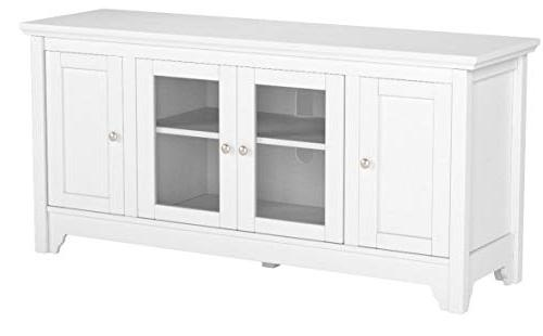 "WE 52"" Wood TV Console - White"