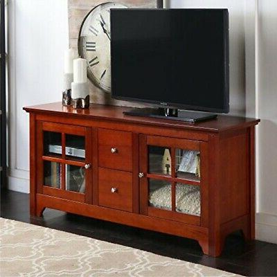 wood tv stand console