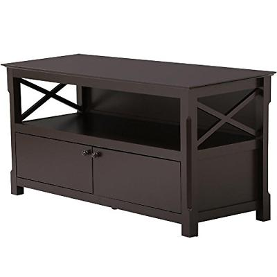 go2buy Wood TV Stand Cabinet Home Entertainment